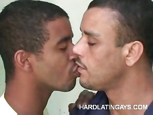 Buffed Gay Latino Submits His Ass