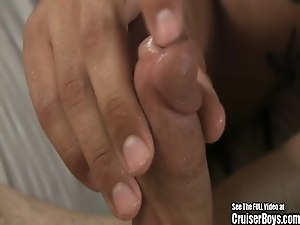 Horny Hairy Armpit Dude Jerks Cock Off