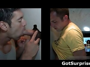 Straight men gets gay surprise cock suck part5