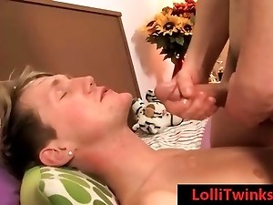 Teenage Josh getting his shaves balls licked with happy