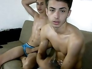 Romanian Handsome Boys Cum Together On Cam