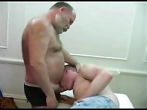 old bear daddy fuck young blonde mouth