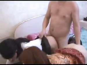 Russian Alpha Male dominates two Russian Femboys