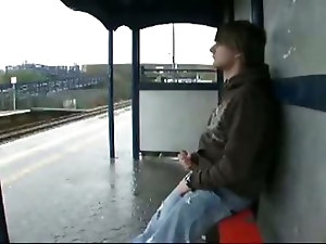 A voyeur private movie with a horny stud who masturbates with lust in the public bus station. This gay guy doesn't seem to care about anything an